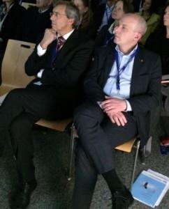Bild unserer Netzwerk-Paten Dr. Rieger und OB Wolbergs